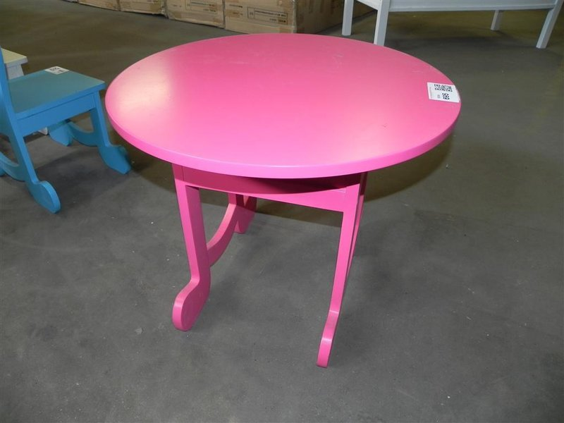 Tafel lief roze doorsnede ca 61 cm hoogte - Tafel roze kind ...