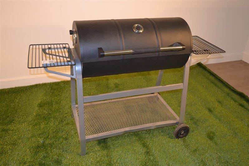 Bbq Met Deksel.Houtskool Barbecue Verrijdbaar Voorzien Van Thermometer In Deksel