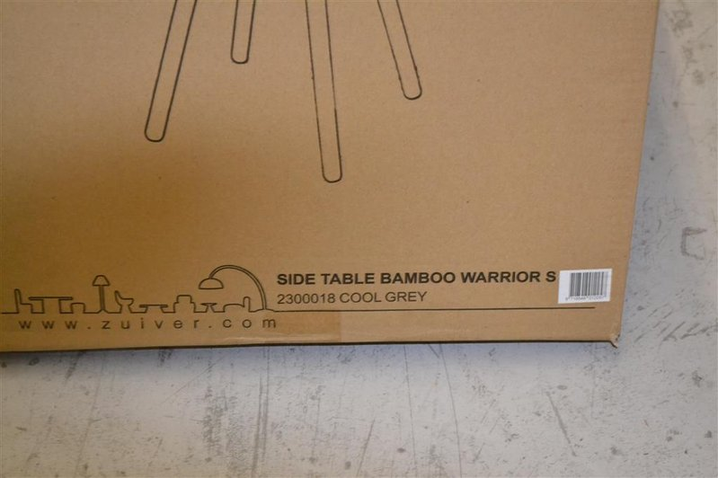 Zuiver Bamboo Warrior Bijzettafel.Bijzettafel Zuiver Type Warrior S 2300018 Cool Grey Afm Hxbxd Ca 41x48x48cm