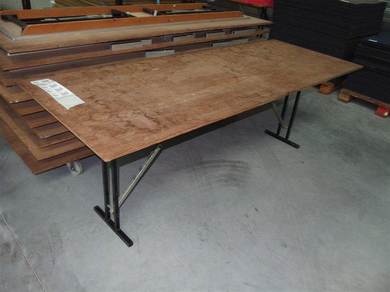 Tafel afm ca cm houten blad inklapbaar onderstel