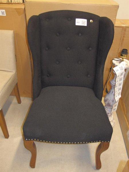 Riviera Maison Stoelen.Stoel Riviera Maison River Wing Chair Chester Artikelcode 163840 Zwart Linnen