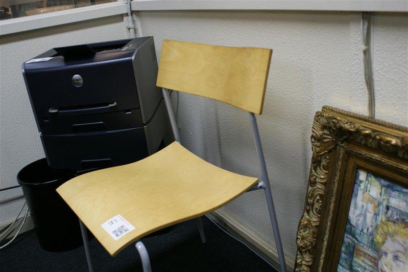 Stoel Metalen Frame : Design stoel hout met metalen frame zithoogte ca. 45 cm
