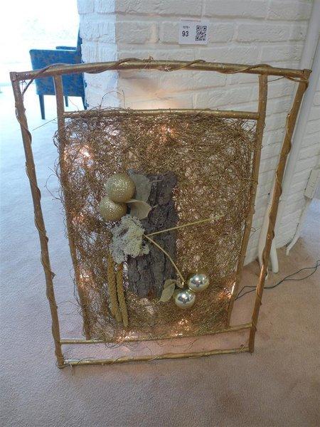 wanddecoratie kerst goudkleurig inclusief verlichting afm hxb ca 80x58cm