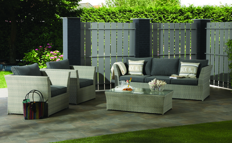 Lounge set garden impressions so tunis bank stoel x