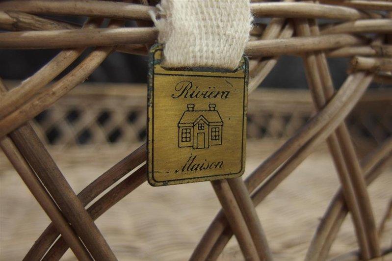 Wonderlijk Dienblad riet Riviera Maison, afm. lxbxh ca. 60x42x14 cm IC-81