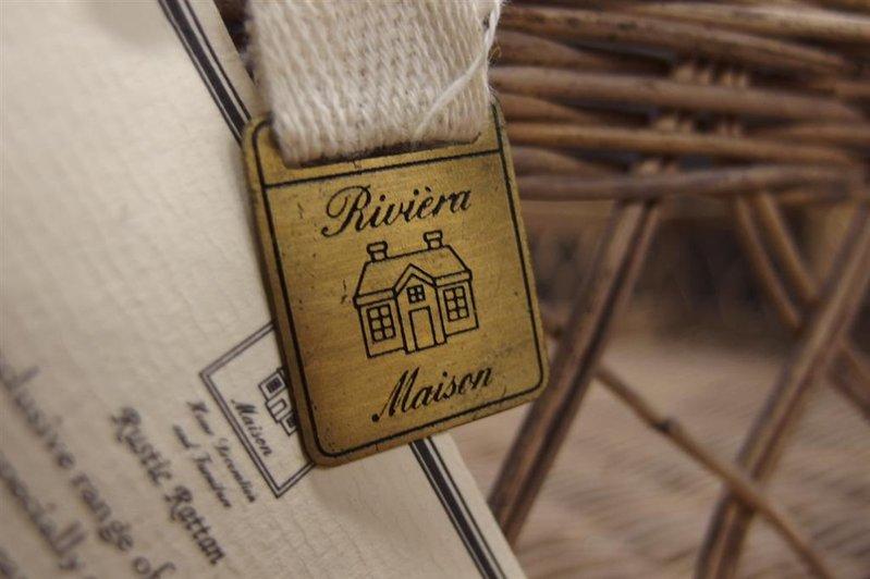 Onwijs Dienblad riet Riviera Maison, afm. lxbxh ca. 60x42x14 cm CV-82