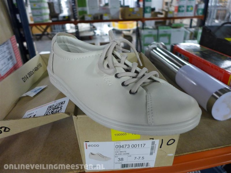 Ecco Dames Sneaker Gebroken Wit 207113   Ecco Dames