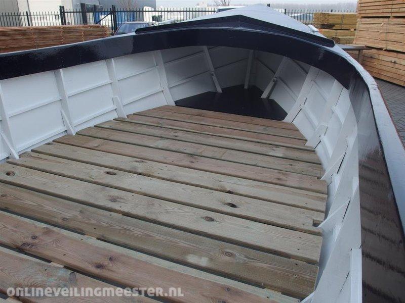 Welp Boot, hout, lxb ca. 525x180 cm, inclusief rvs kar en nieuwe op EB-75