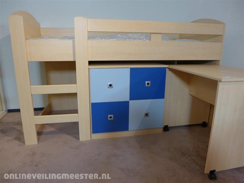 Bureau In Kast : Ledikant halfhoogslaper met kast 2x deur verrijdbaar incl