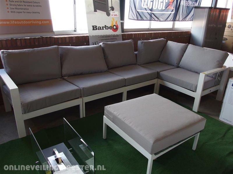 All Weather Kussens : 6 delige loungeset mikki life aluminium frame kussens: grijs all