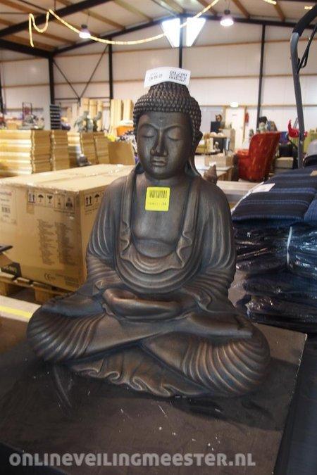 Boeddha Beeld Beton.Beeld Boeddha Bronskleurig Beton Hoogte Ca 50cm