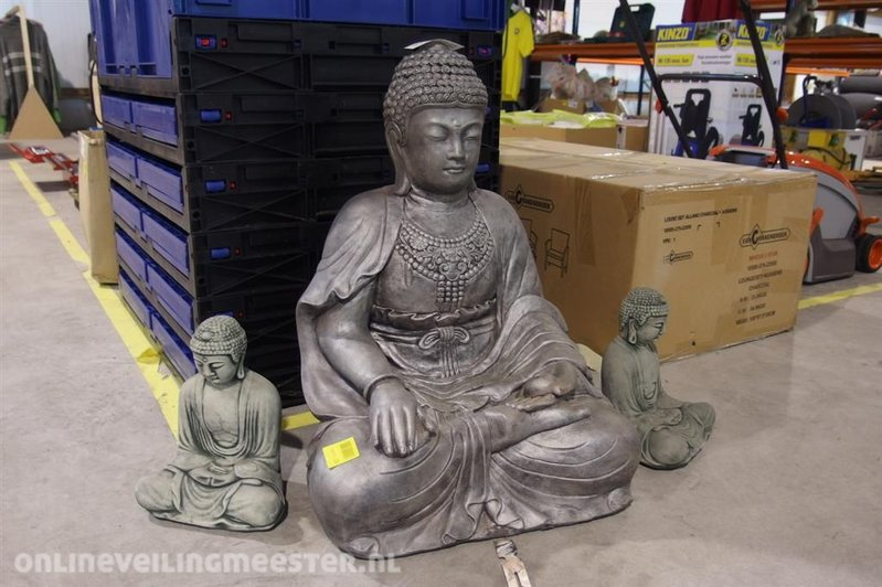 Boeddha Beeld Beton.3x Beeld Boeddha Beton Diverse Afmetingen Hoogte Tot Ca 65cm