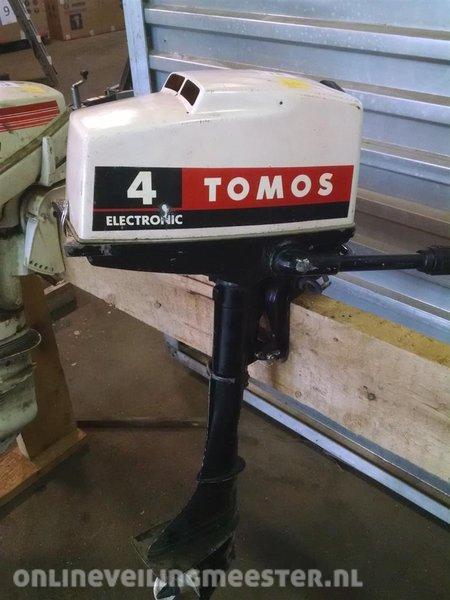 Super Buitenboordmotor Tomos 4 pk, 2 tact, kortstaart, heeft onderhoud JJ-74