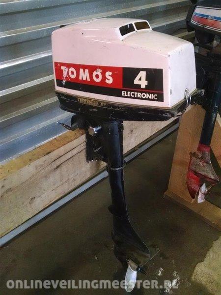 Beste Buitenboordmotor Tomos 4 pk, 2 tact, kortstaart, heeft onderhoud WS-45