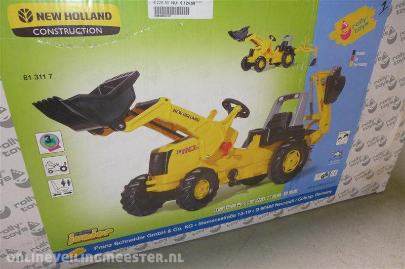 Traptrekker rolly toys new holland construction met kraan en