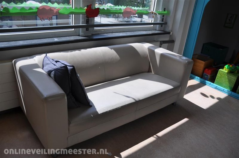 Leren Klippan Bank.Ikea Bank Finest Ikea Sofa Couch Witte Bank Royalty Vrije Stock