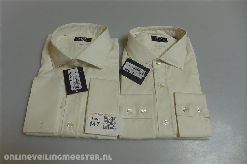 Overhemd Creme.2x Overhemd Creme Kool Maat 43 Winkelwaarde 198