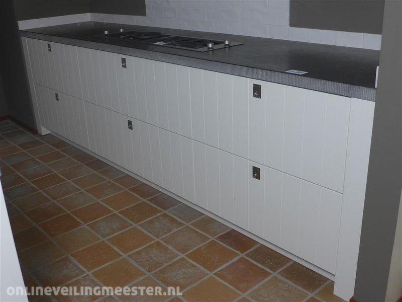 ≥ showroom opruiming systemat keuken hoogglans gelakt blauw