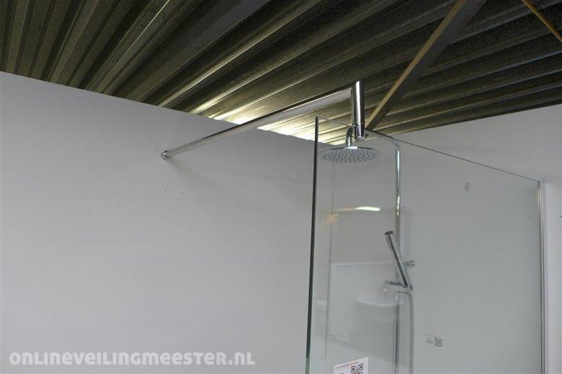 Douchewand 70 Cm : Douchewand tempered glass afm. ca. 200x86cm helder glas