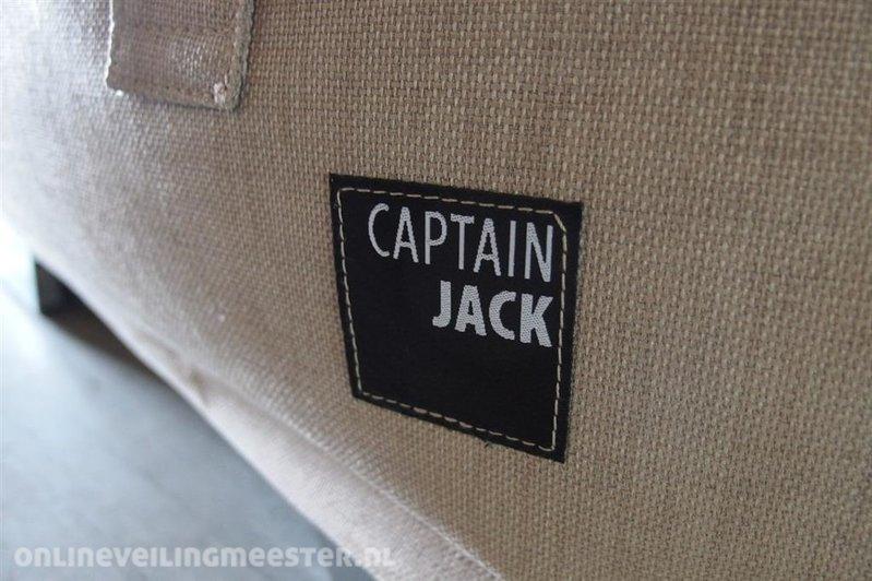 Captain Jack Lounge Stoel.2x Lounge Stoel Met Beschermhoes Captain Jack Zand Met Streep