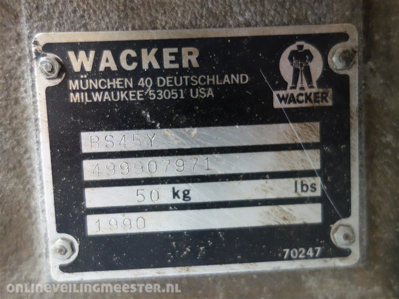 6x Vibration Stamper, mixed gasoline Wacker, various types