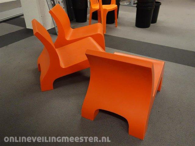 Design Stoelen Enschede.3x Design Stoel Gispen Rhino Oranje Onlineveilingmeester Nl