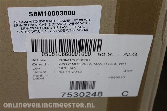 Boekenkast Basic Label.Base Cabinet With 2 Drawers Sphinx Sph 420 Wt Ondb 2 White