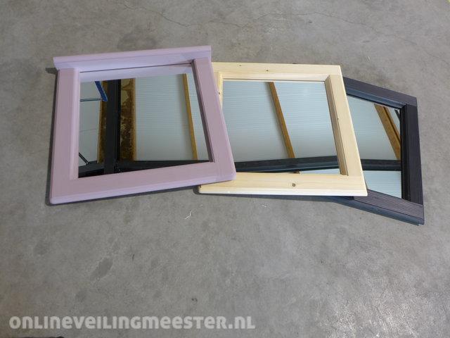 Spiegel Met Lijst : Stoere spiegel in lijst van steigerhout zeer zwaar en gaaf