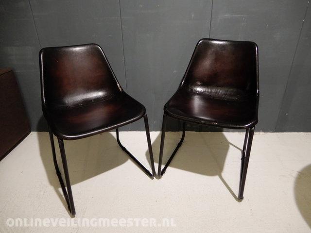 Uitgelezene 2x Dining chair Be Pure, Rough Chair, Dark brown CC-56