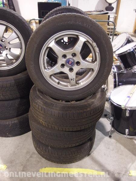 4x Zomerbanden Met Aluminium Velgen Pm 4 Mm Saab 9 3 Of 9 5 Opel Maat 195 65 15 Steek 5x110 2015