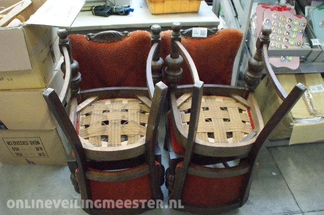 Eetkamer Van Oranje : Eetkamer stoel antiek bruin oranje onlineauctionmaster