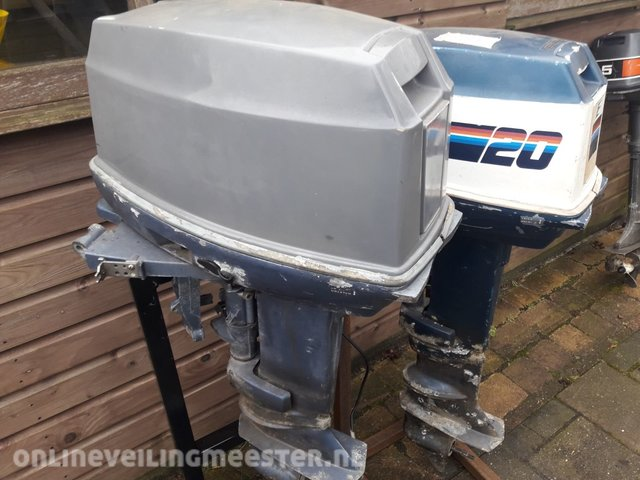 2x Outboard motors Evinrude, 20 and 25 horsepower short tail and long tail  electric start