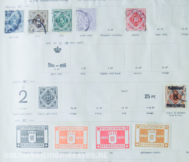 Stamp collection - World collection in old Schwaneberger album