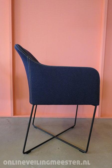 Kff Design Stoelen.2x Design Eetkamerstoel Kff Youma Blauw Onlineveilingmeester Nl