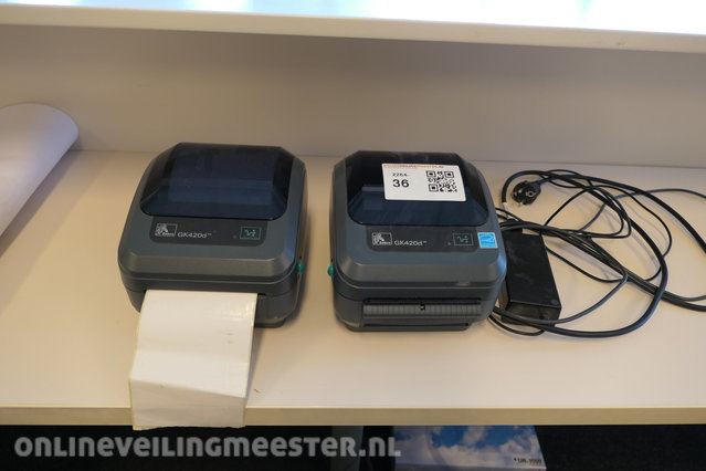 2x Labelprinter Zebra, GK420d