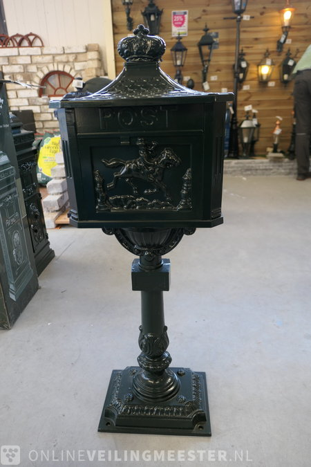 Classic letterbox K.S. Verlichting, green - Onlineauctionmaster.com