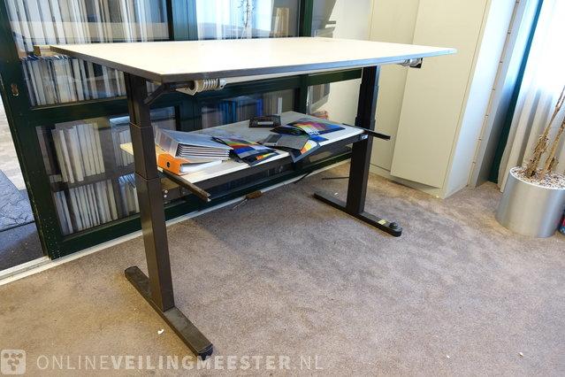 Height-adjustable work table