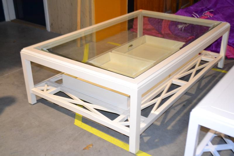 Witte Salon Tafel Met Glas.Salontafel George 160x100 Cm Wit Met Glasplaat