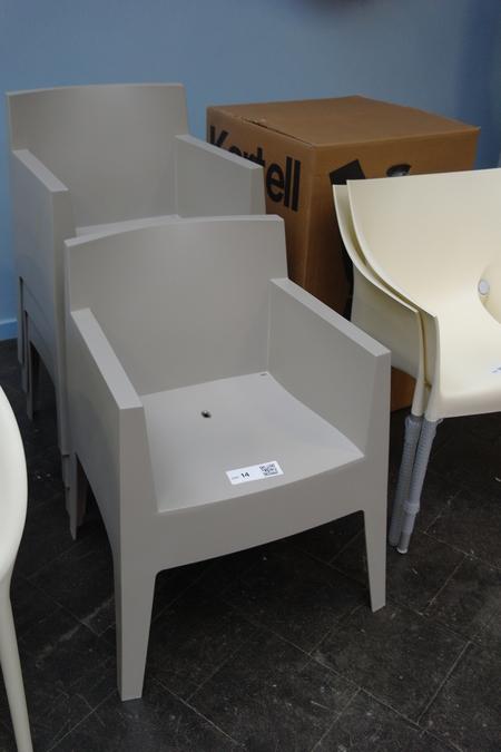 4x stapelbare stoel toy van philippe starck v for Starck stoelen