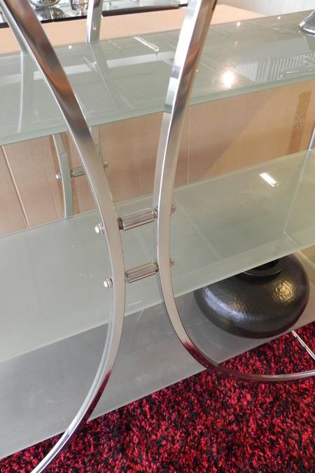 Kast Room Divider Metaal 4 Glazen Legborden