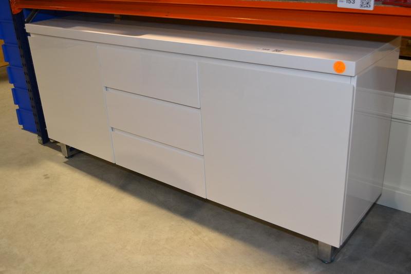 Design dressoir 167 x 42 x 74 cm hoogglans wit nieuw