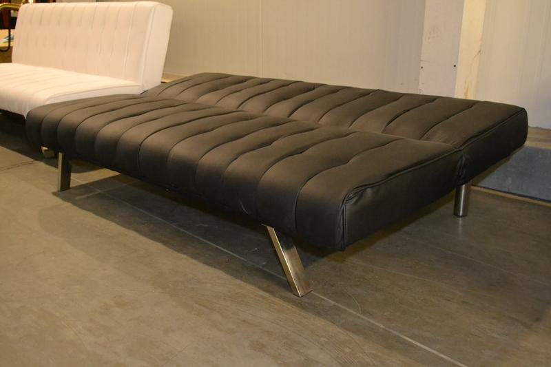 Seats And Sofas Slaapbank.Slaapbank Model Danielle Zwart Pu A1 Lederlook