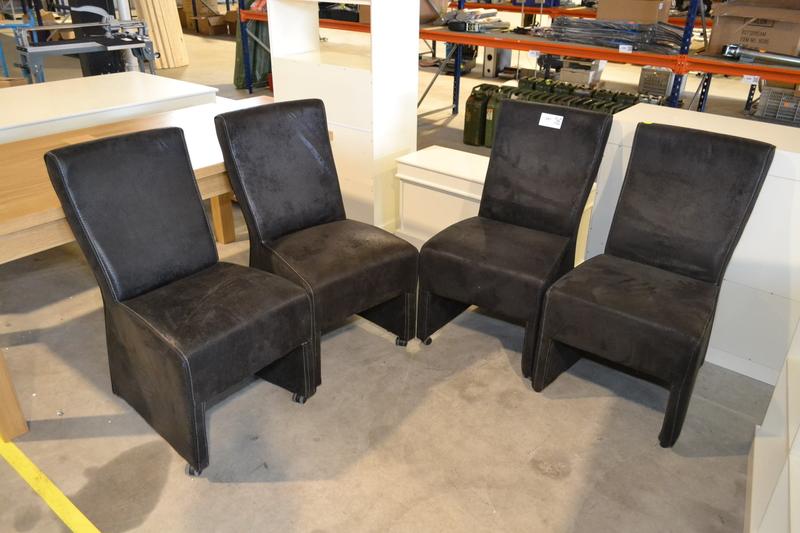 ... eettafel stoelen verrijdbaar kleur grijs geschuurd nieuw 4x eettafel
