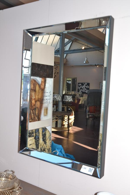 Spiegel Met Spiegellijst.Spiegel Met Spiegellijst Hxb Ca 105x77 Cm Winkelwaarde 155 Euro