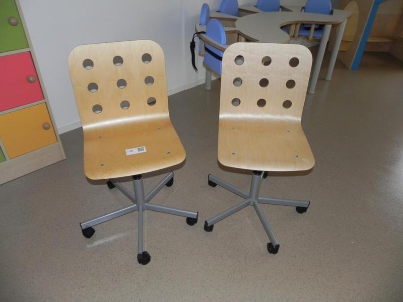 Houten Bureau Stoel.2x Bureaustoel In Hoogte Verstelbaar Houten Zitting