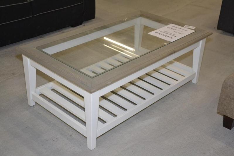 Salon Tafel Glas.Salon Tafel Eiken Glas Afm Ca 70x120 Cm