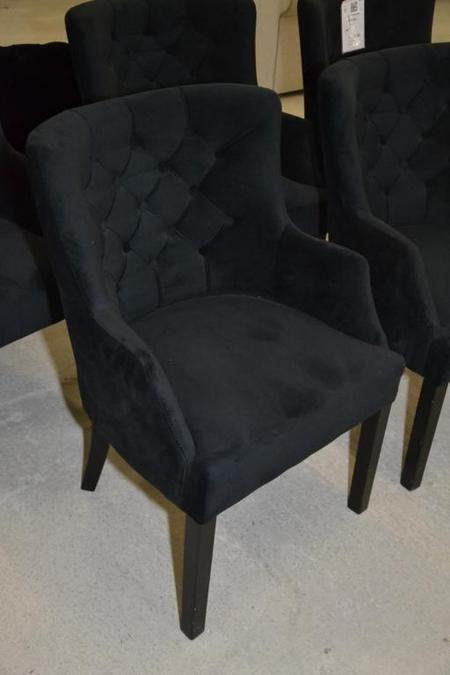 5x club fauteuil eetkamerstoel zwart met ar for Eetkamerstoel fauteuil