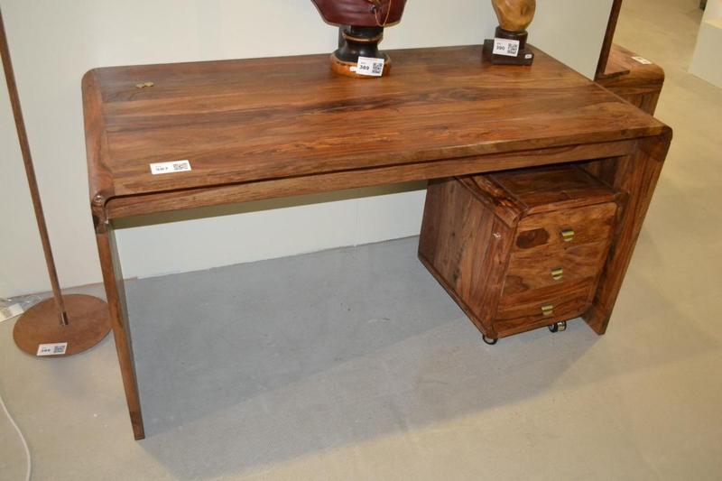 bureau authentico club desk hout. Black Bedroom Furniture Sets. Home Design Ideas