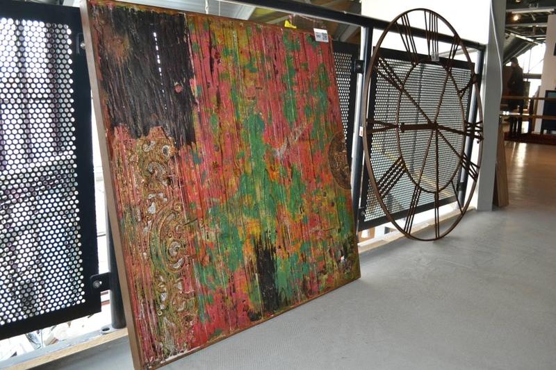wanddecoratie hout afmeting hxb ca 100x100cm