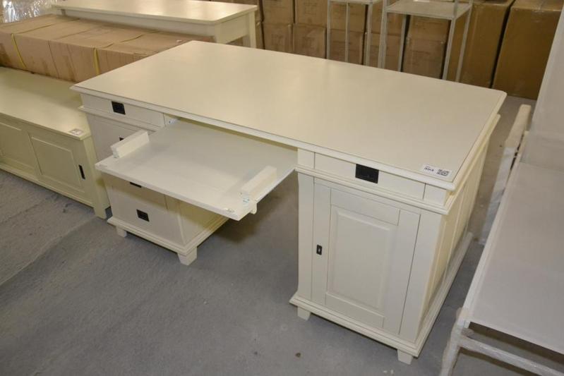 Bureau met kastje ladenblok cr me ca 160x for Ladenblok op bureau